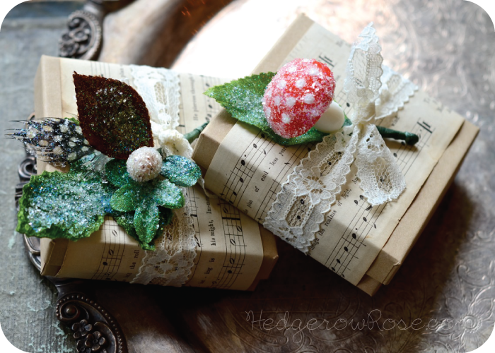 Post image for Crafting Winter Frosted Millinery Flora Embellishments