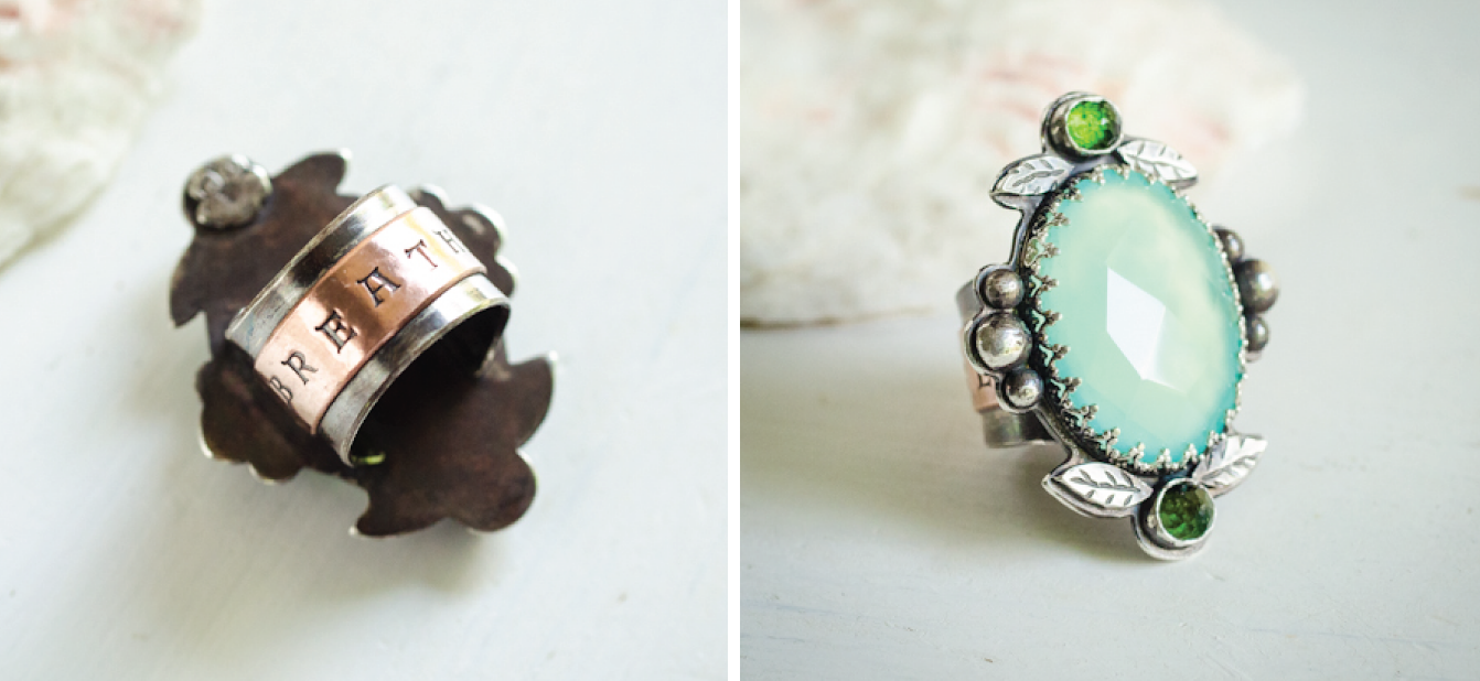 chalcedony tourmaline breathe ring | hedgerow rose jewelry