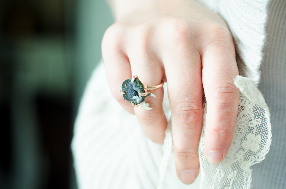 stars and moon ring | hedgerow rose