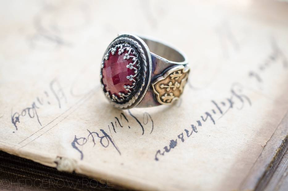 Eleanor of Aquitaine Ruby Ring | Hedgerow Rose