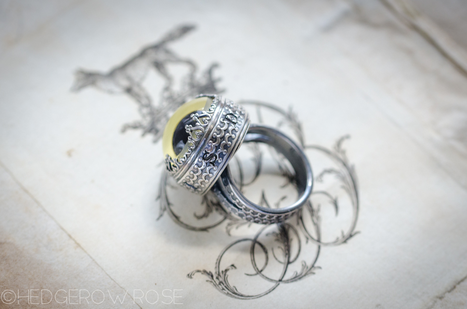 Sterling Silver Owl Eye Athena Ring 2 | Hedgerow Rose
