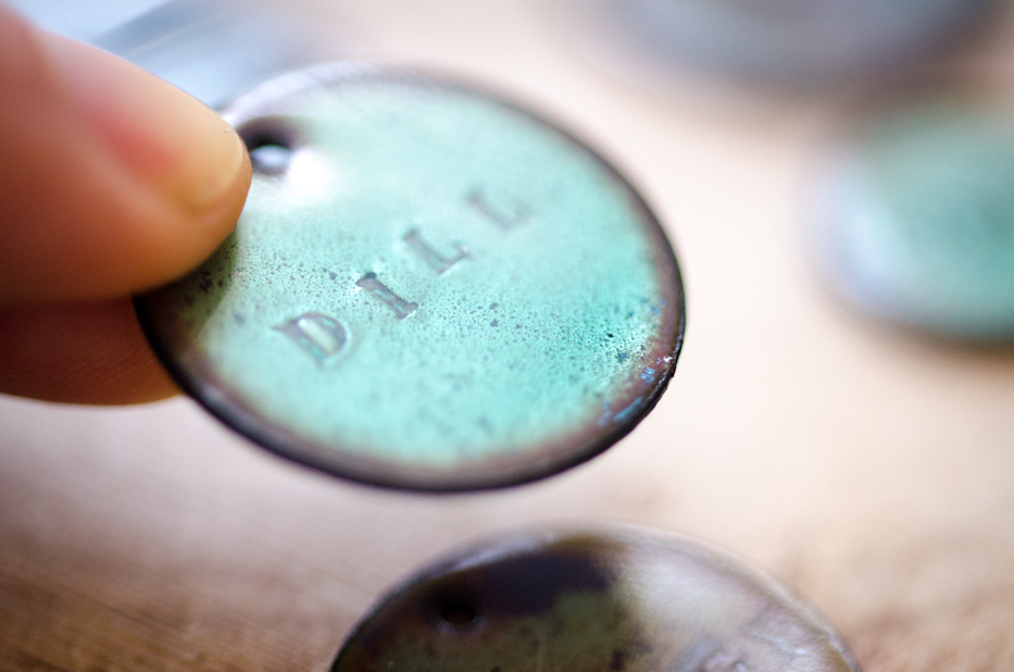 Enameled Copper Dill Tag | HedgerowRose.com