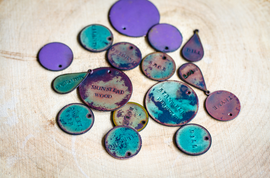 Enameled Copper Plant Tags
