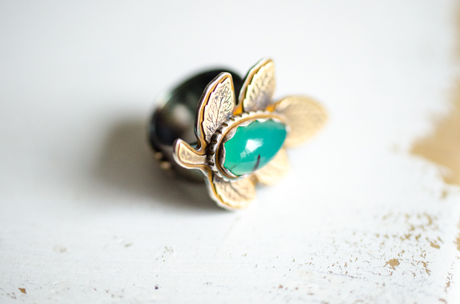 Artemis Ring with Chrysoprase