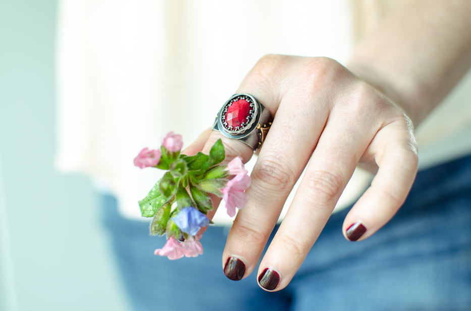 Eleanor of Aquitaine Ruby Ring | via Hedgerow Rose