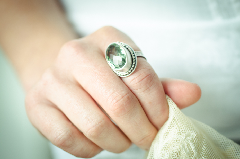 Post image for A Secret Garden Ring (Prasiolite)