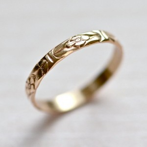14kt Gold Forget Me Not Ring 1