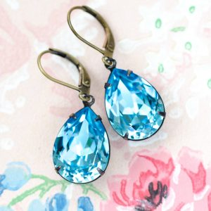 Aquamarine Estate Earrings