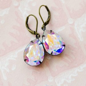 Estate Earrings Aurora Borealis 1