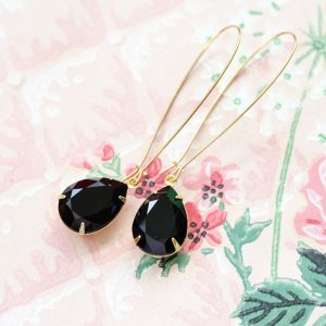 Hollywood Glam Earrings Noir