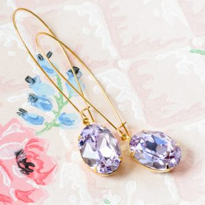 Hollywood Glam Earrings Violets