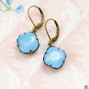 Petite Estate Style Earrings Chalcedony 1