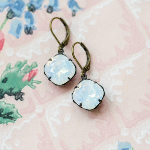 Petite Estate Style Earrings Moonstone 1
