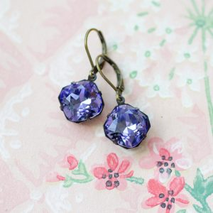 Petite Estate Style Earrings Tanzanite