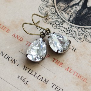 Petite Estate-Style Earrings - White Diamond