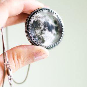 moon goddess necklace size