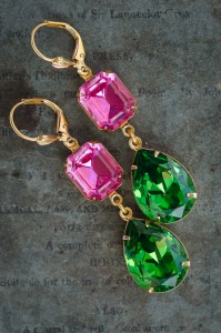 Estate Earrings Watermelon Candy