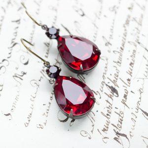 Siam Ruby Regency Earrings-2