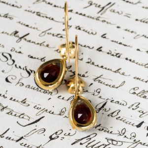 Graphite and Ruby Gold Vermeil Earrings 4