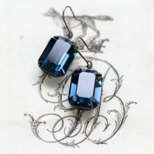 Montana Sapphire Estate Earrings 3