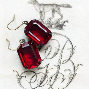 Siam Ruby Estate Earrings