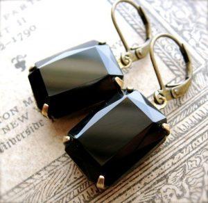 Original Estate Earrings, Noir 1