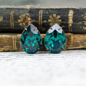 Emerald Stud Earrings 3 - Hedgerow Rose